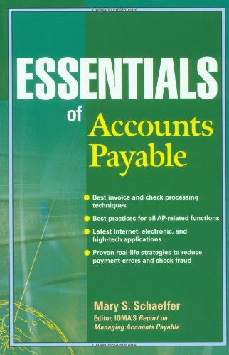 Essentials of Accounts Payable   2002 edition cover