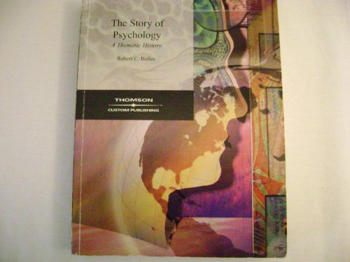 STORY OF PSYCHOLOGY >CUSTOM< N/A 9780495034087 Front Cover