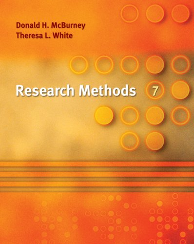 Research Methods  7th 2007 edition cover