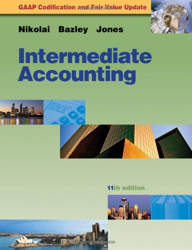 Intermediate Accounting Update  11th 2010 edition cover