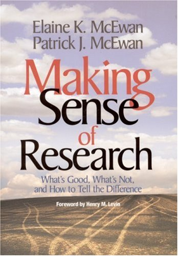 Making Sense of Research What's Good, What's Not, and How to Tell the Difference  2003 edition cover