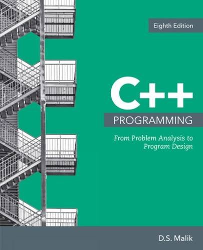 C++ Programming: From Problem Analysis to Program Design  2017 9781337102087 Front Cover