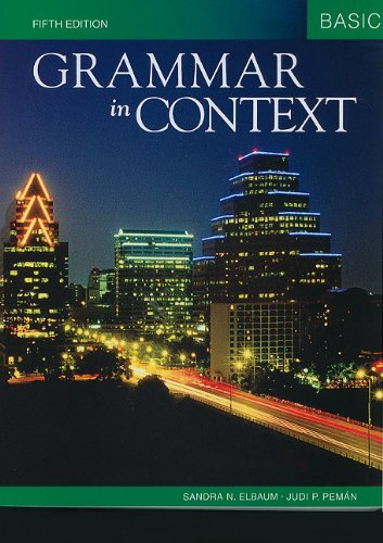 Grammar in Context Basic  5th 2011 9781424079087 Front Cover