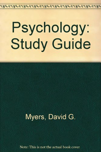Study Guide to Accompany Psychology  5th 1997 9781572592087 Front Cover