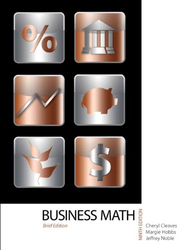 Business Mathematics + Mymathlab/Mystatlab Standalone Access Card:  9th 2011 9780132770088 Front Cover
