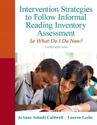Intervention Strategies to Follow Informal Reading Inventory Assessment So What Do I Do Now? 3rd 2013 (Revised) edition cover