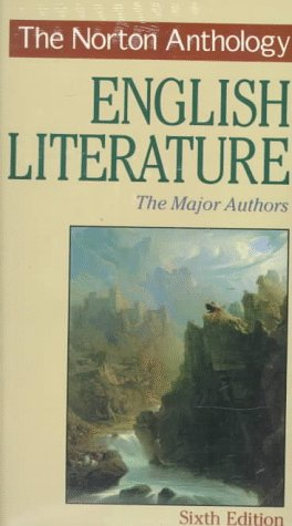 Norton Anthology of English Literature  6th 1996 edition cover