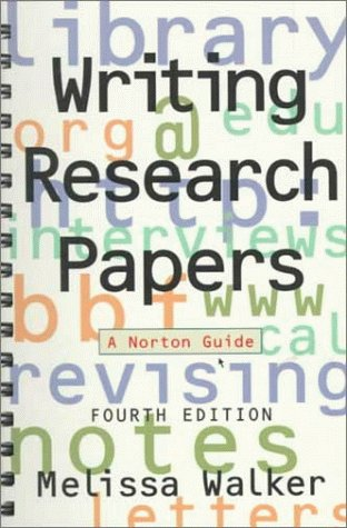 Writing Research Papers  4th 1997 edition cover