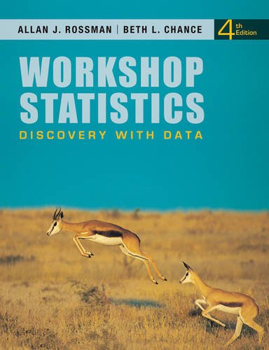 Workshop Statistics Discovery with Data 4th 2012 9780470542088 Front Cover