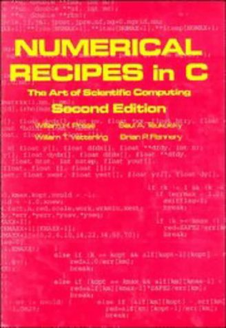 Numerical Recipes in C The Art of Scientific Computing 2nd 1992 (Revised) edition cover