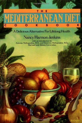 Mediterranean Diet Cookbook A Delicious Alternative for Lifelong Health  1994 9780553096088 Front Cover