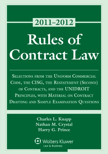 Rules of Contract Law, 2011 Statutory Supplement   2011 edition cover
