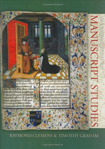Introduction to Manuscript Studies   2007 edition cover