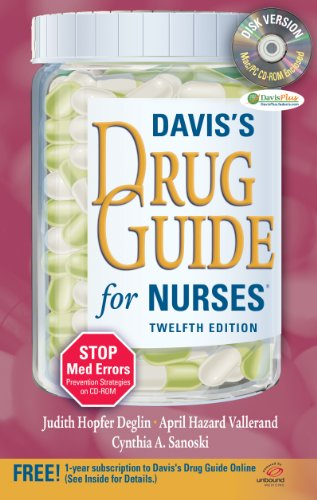 Davis's Drug Guide for Nurses  12th 2011 (Revised) edition cover