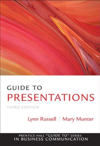Guide to Presentations  3rd 2011 9780137075089 Front Cover