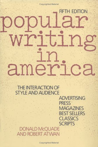 Popular Writing in America The Interaction of Style and Audience 5th 1993 (Revised) edition cover