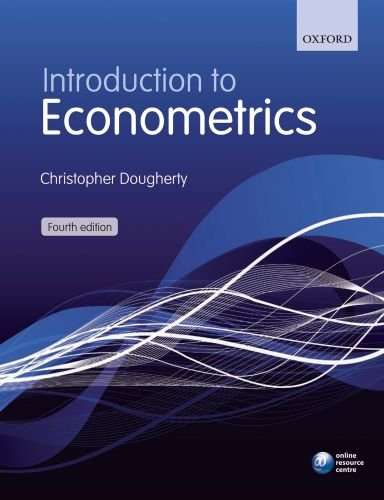Introduction to Econometrics  4th 2010 edition cover
