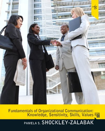 Fundamentals of Organizational Communication  8th 2012 edition cover