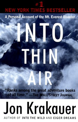 Into Thin Air A Personal Account of the Mt. Everest Disaster N/A edition cover
