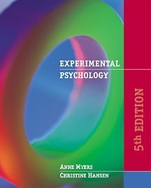 Experimental Psychology  5th 2002 edition cover