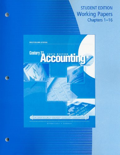 Accounting Multicolumn Journal 9th 2009 9780538447089 Front Cover