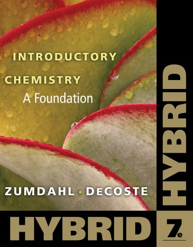 Introductory Chemistry A Foundation, Hybrid 7th 2011 9780538757089 Front Cover