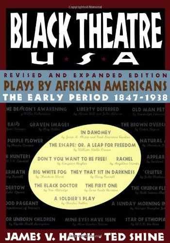 Black Theatre USA Revised and Expanded Edition, Vol. 1 Plays by African Americans from 1847 to Today  1996 (Revised) edition cover