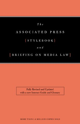 Associated Press Stylebook and Libel Manual   2000 edition cover