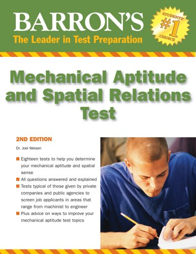 Mechanical Aptitude and Spatial Relations Test  2nd 2009 (Revised) edition cover