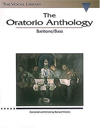 Oratorio Anthology Baritone/Bass N/A edition cover