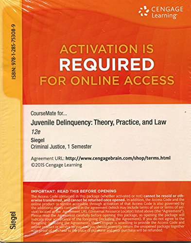 JUVENILE DELINQUENCY-ACCESS             N/A edition cover