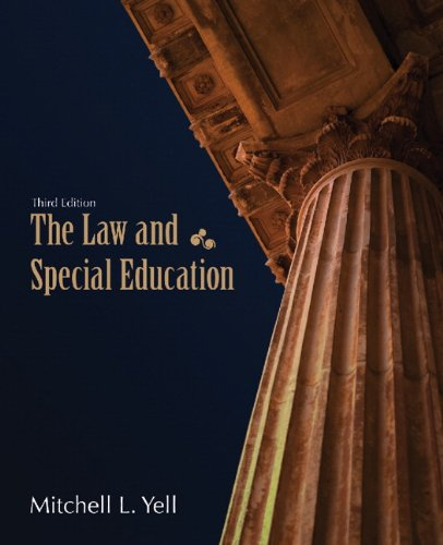 Law and Special Education  3rd 2012 edition cover