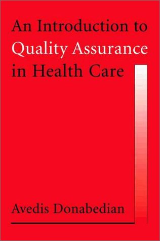 Introduction to Quality Assurance in Health Care   2003 edition cover
