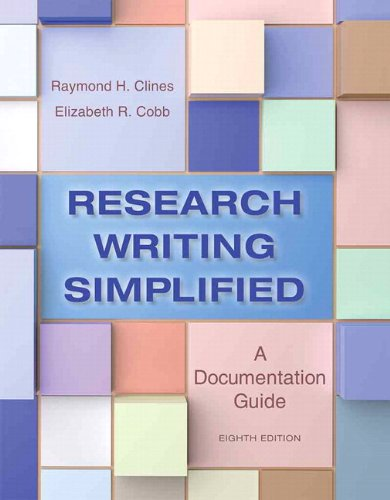 Research Writing Simplified A Documentation Guide Plus NEW MyWritingLab -- Access Card Package 8th 2015 edition cover