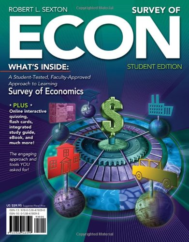 Survey of ECON   2011 9780538478090 Front Cover
