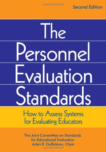Personnel Evaluation Standards How to Assess Systems for Evaluating Educators 2nd 2009 9780761975090 Front Cover