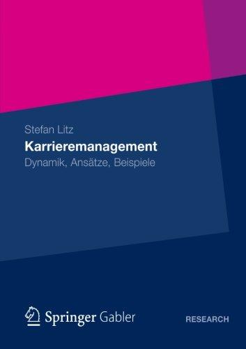 Karrieremanagement   2012 9783834935090 Front Cover