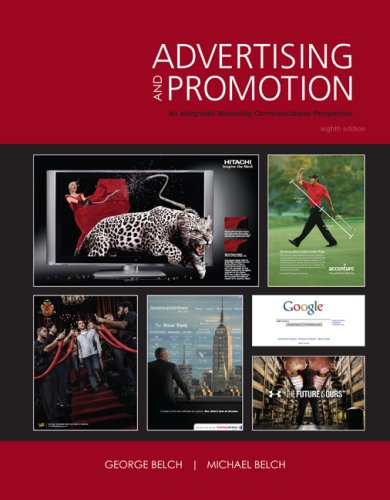 Advertising and Promotion An Integrated Marketing Communications Perspective 8th 2009 edition cover