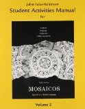 Student Activities Manual for Mosaicos, Volume 2  5th 2010 edition cover