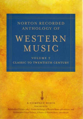 Norton Anthology Western Music  5th 2006 edition cover