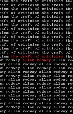 Craft of Criticism   1982 9780521299091 Front Cover