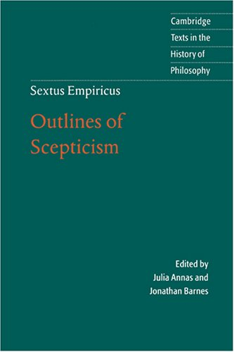 Sextus Empiricus Outlines of Scepticism 2nd 2000 (Revised) edition cover