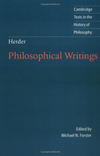 Herder Philosophical Writings  2002 edition cover