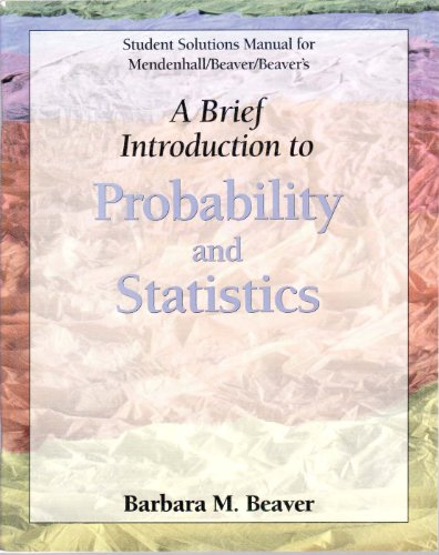 Mendenhall's Brief Introduction to Probability and Statistics   2002 9780534396091 Front Cover