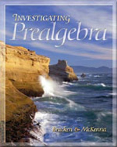 Investigating Prealgebra   2002 9780534453091 Front Cover