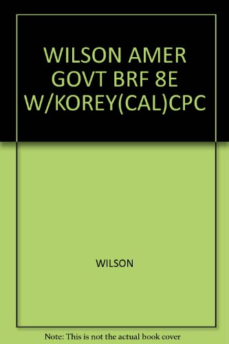 AMER.GOVT.,BRIEF-W/CALIF.SUPP.>CUSTOM< 8th 2008 9780618971091 Front Cover