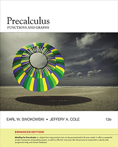 Precalculus: Functions and Graphs  2016 9781305663091 Front Cover