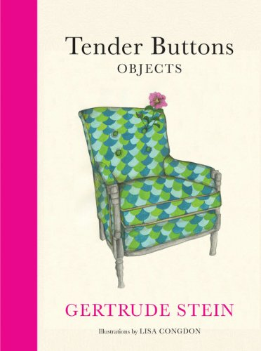 Tender Buttons - Objects   2013 edition cover
