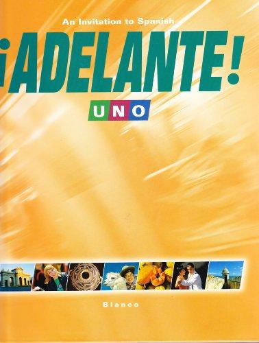 Adelante! Uno   2008 (Student Manual, Study Guide, etc.) edition cover