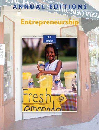 Entrepreneurship  6th 2010 edition cover